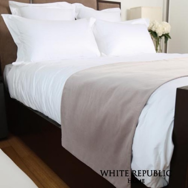[패밀리세일]02진열상품Mandarin Cotton Velvet Bed Runner Pearl Grey