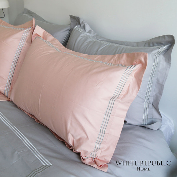 [균일가] Dulwich Oxford Pillowcase - Peach Pink