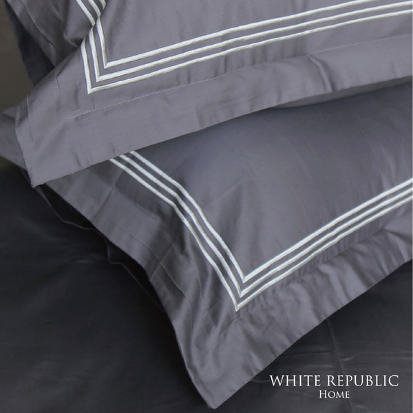 Dulwich Oxford Pillowcase - Charcoal Grey