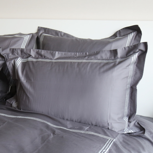 Dulwich Square Pillowcase - Charcoal Grey
