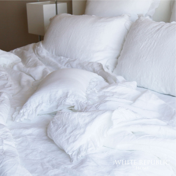 French Linen Spread - White