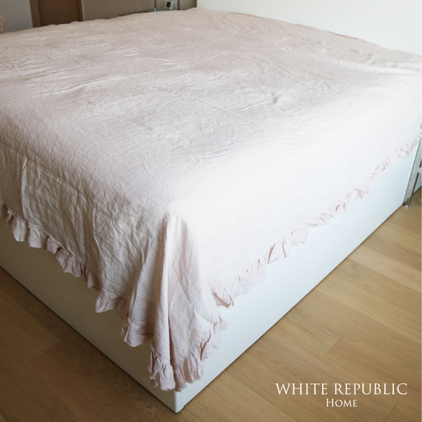 French Linen Spread - Light Pink