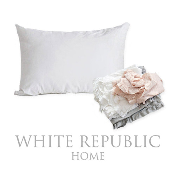 French Linen Ruffle Mini Pillowcase set (3color)
