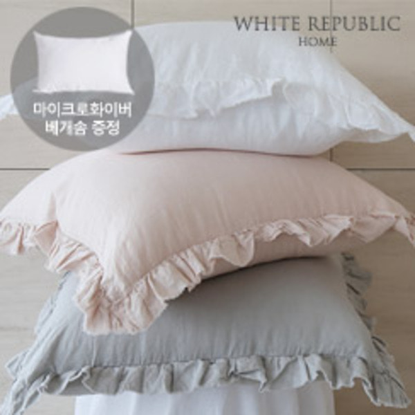 French Linen Ruffle / Oxford Pillowcase set (6 colors)