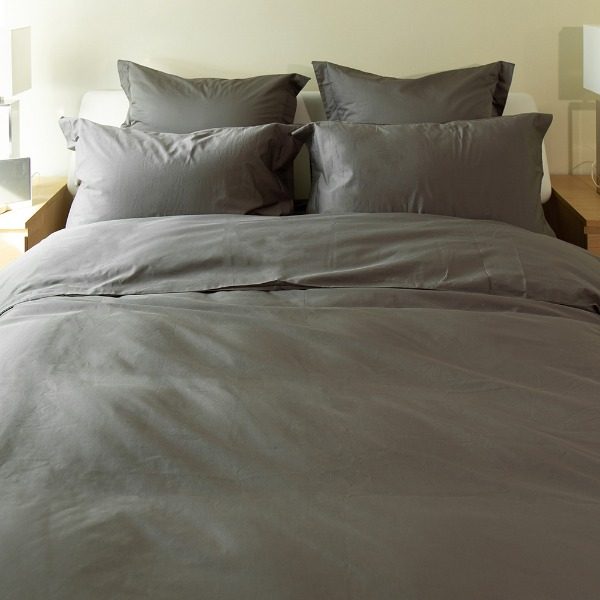 Duke Duvet Cover - Charcoal Grey Q
