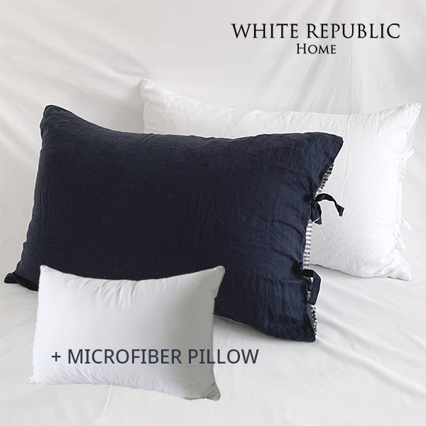 French Linen Housewife Pillowcase + Microfiber Cotton Cover Pillow set