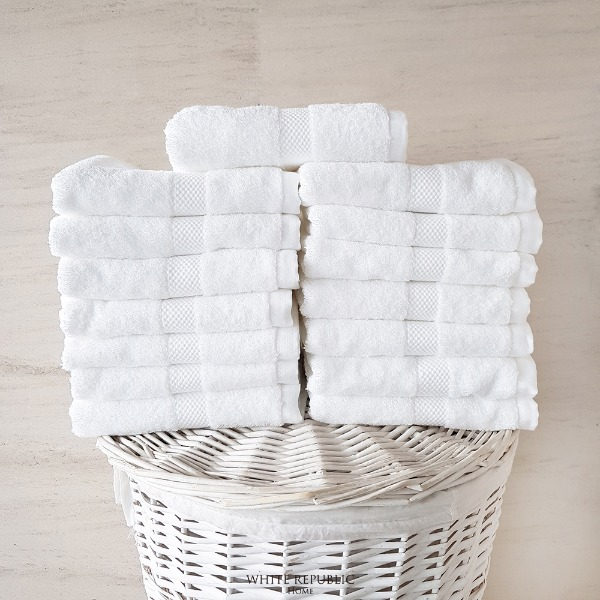 Savoy Collection Hand Towel 15P - White