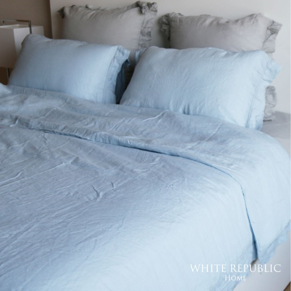 French Linen Cover Set (Paleblue / SS )