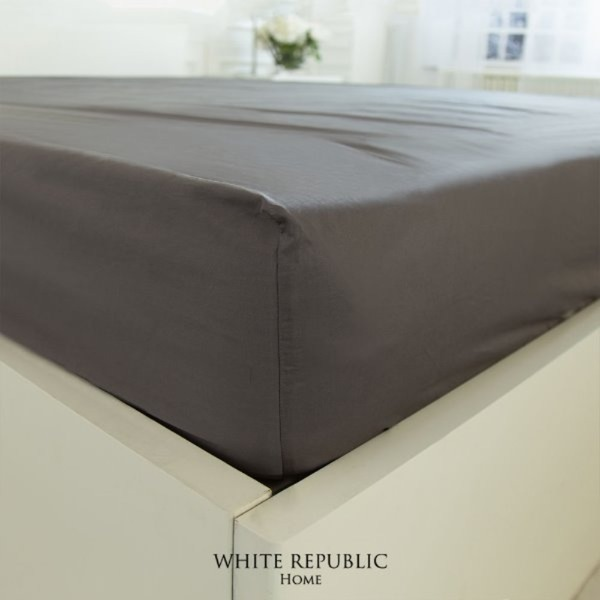 Duke Fitted Sheet - Charcoal Grey SS