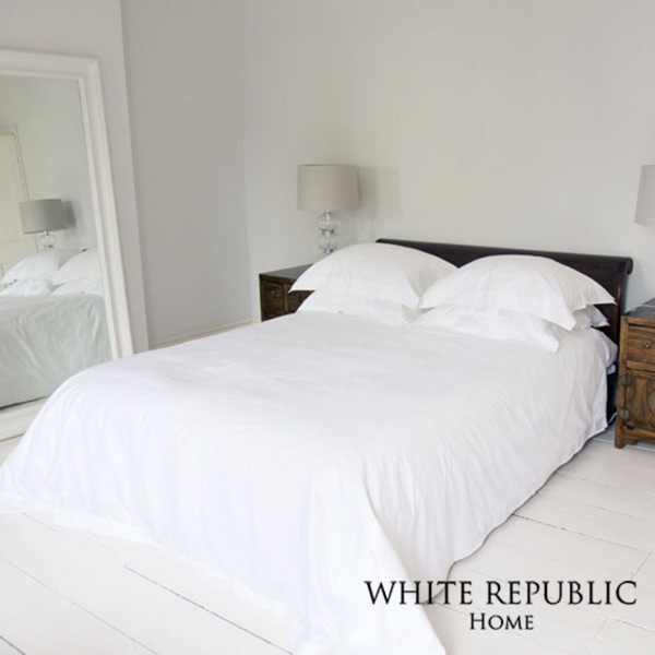 Ritz Collection Duvet Cover White Q